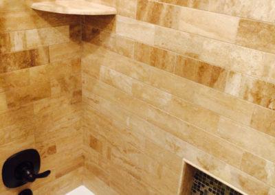Bathroom with Dark Fixtures