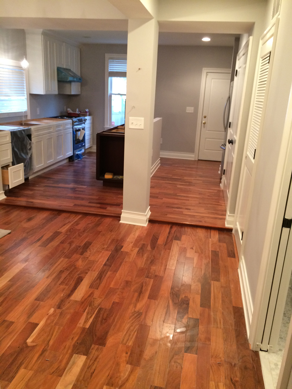 Wood Floor in Kitchen