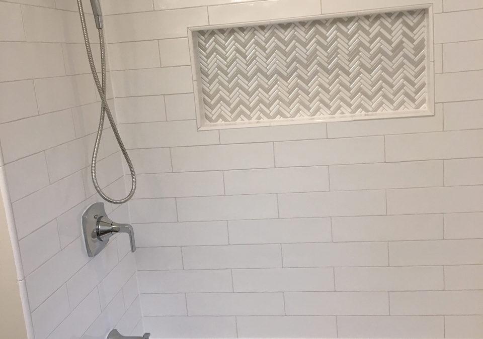 White on White Bathroom Remodel